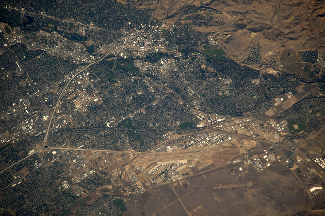 Satellite Image Idaho